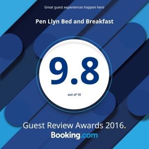 booking.com award for B&B